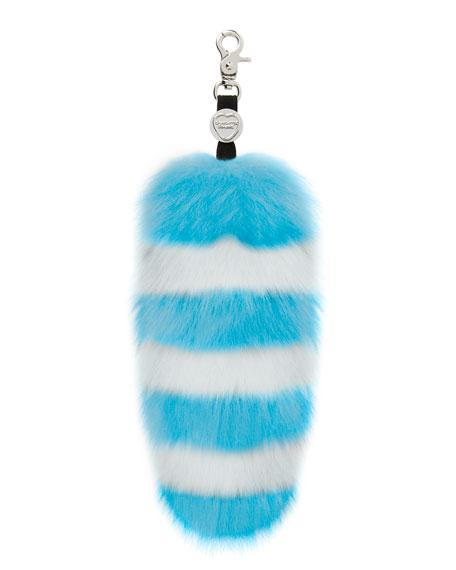 Charlotte Simone Goody Gumdrops Striped Fox Fur Handbag