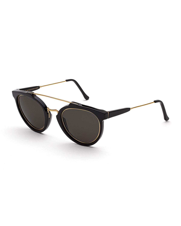 negras sol con Gafas recortadas Impero Giaguaro puente doble de AvC7xnqw6