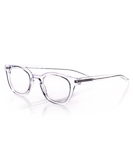 designer glasses frames for men d5db  Waylaid Transparent Square Readers, Clear