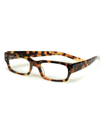 oversized designer eyeglasses 1f74  Peckerhead Rectangular Readers, Tortoise