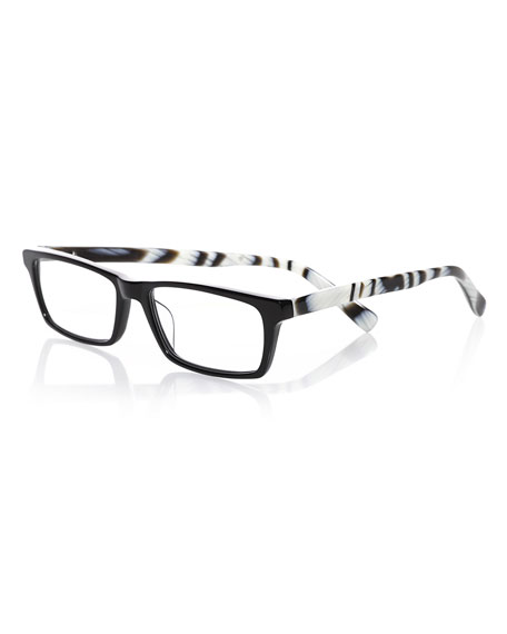 Eyebobs Number Cruncher Rectangular Readers, Black/White