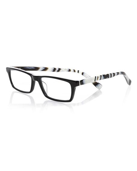 Eyebobs Number Cruncher Rectangular Readers, Black/White