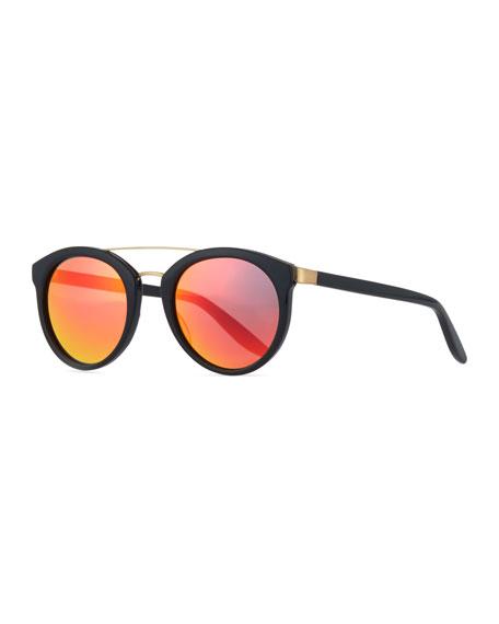 Barton Perreira Dalziel Round Iridescent Sunglasses,