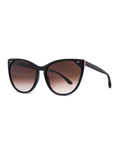Swappy Cat-Eye Sunglasses, Black