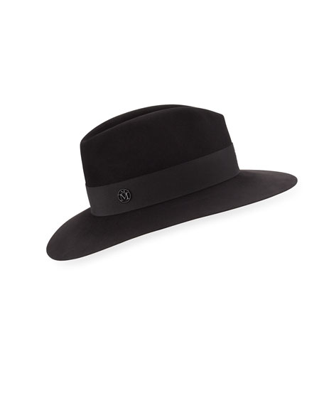 Henrietta Felt Boyfriend Hat, Black