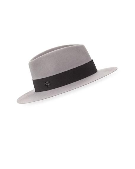 Andre Felt Classic Fedora Hat, Pearl Gray