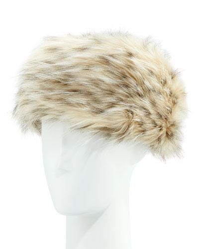 Faux-Fur Russian Hat, Arctic Leopard