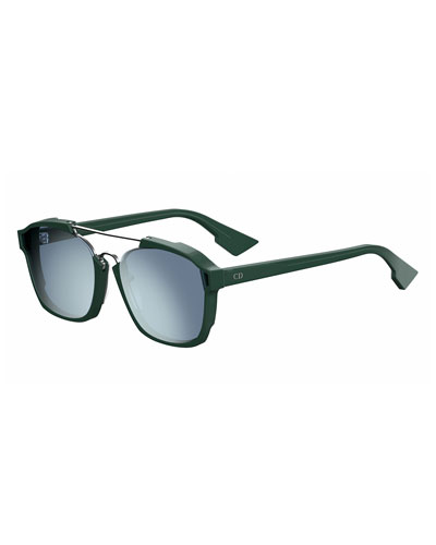 Square Abstract Sunglasses, Green