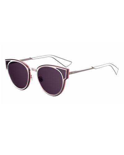Sculpt Cat-Eye Sunglasses, Lilac