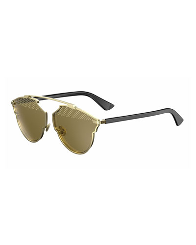 So Real Studded Sunglasses, Gold