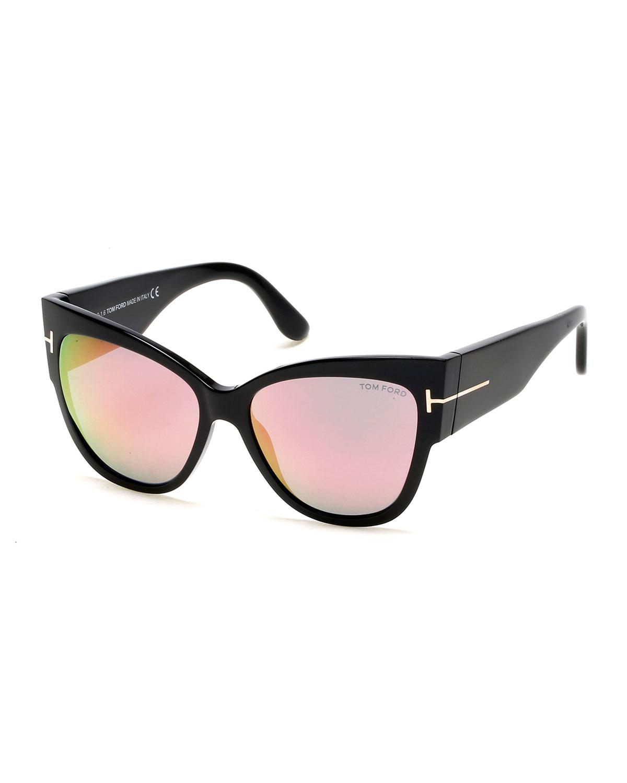 8b11d977f2506 TOM FORD Anoushka Flash Cat-Eye Sunglasses