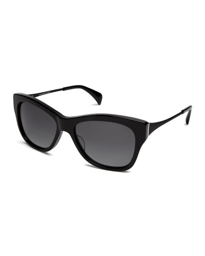 Milla Polarized Butterfly Sunglasses, Black