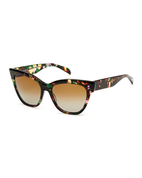 Polarized Cat Eye Sunglasses  salt winslett polarized cat eye sunglasses tropical flower