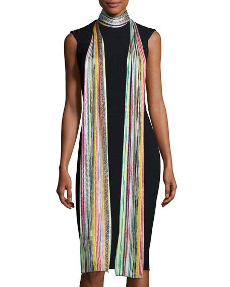 Missoni Long Metallic Zigzag Scarf, Multicolor
