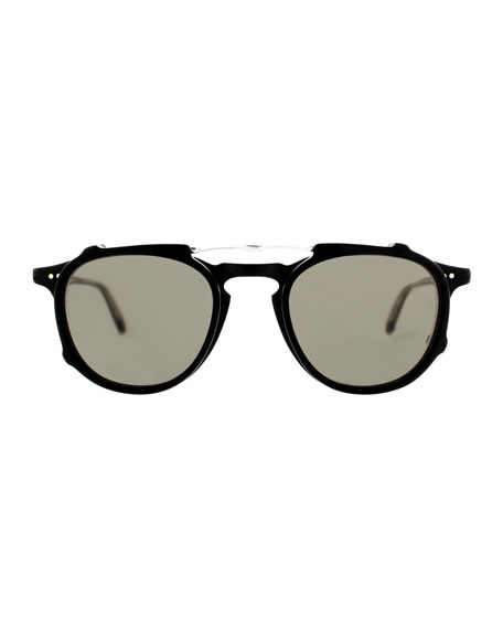 Hampton Square Acetate Sunglasses, Matte Black