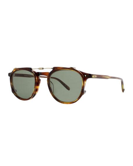 Hampton Square Acetate Sunglasses, Chestnut