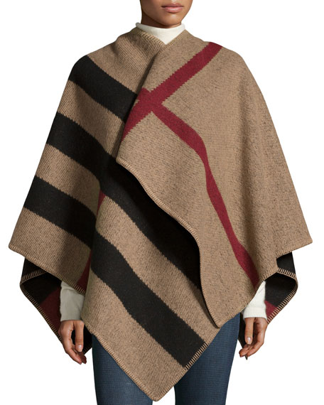 Burberry Mega Check Wool/Cashmere Cape