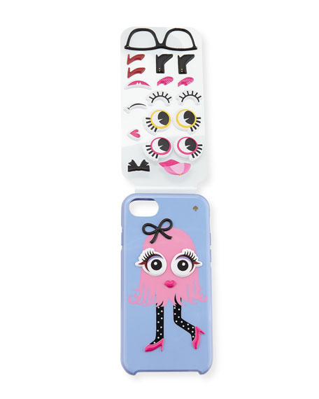 make your own monster iPhone 7 case, pink/multi