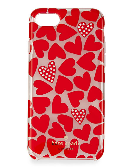 scattered hearts iPhone 7 case, multicolor