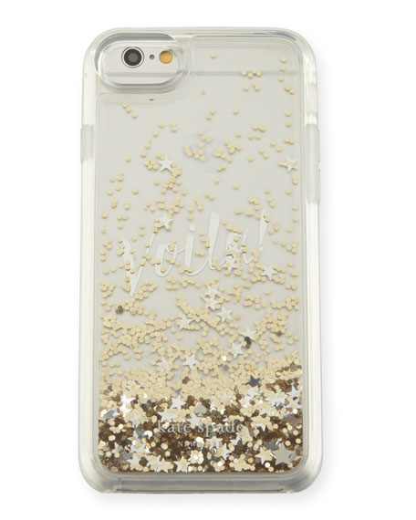 liquid glitter voila iPhone 7 case, multicolor
