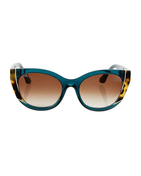 Nevermindy Acetate Cat-Eye Sunglasses
