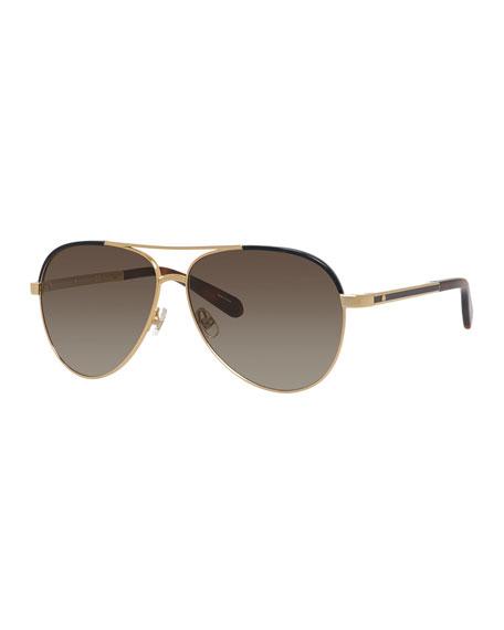kate spade new york amaris two-tone aviator sunglasses