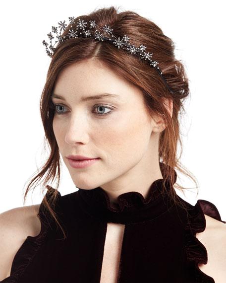 Starlight Crystal Headband, Dark Gray