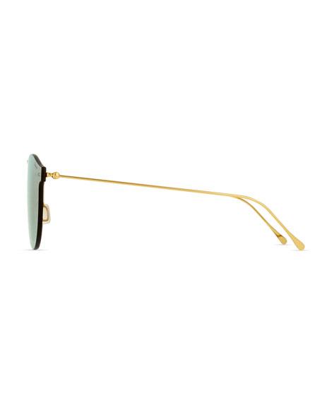 Leonard Mask Sunglasses, Rose Gold