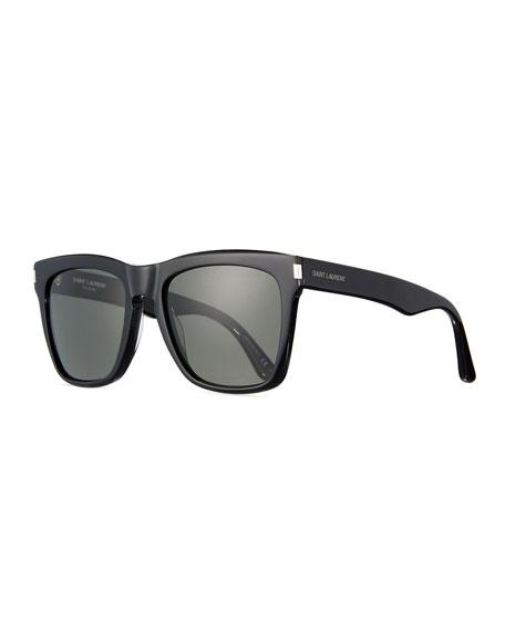 Devon Square Monochromatic Sunglasses, Black