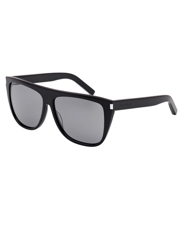 22bfdc3e32 Saint Laurent Mirrored Flat-Top Sunglasses