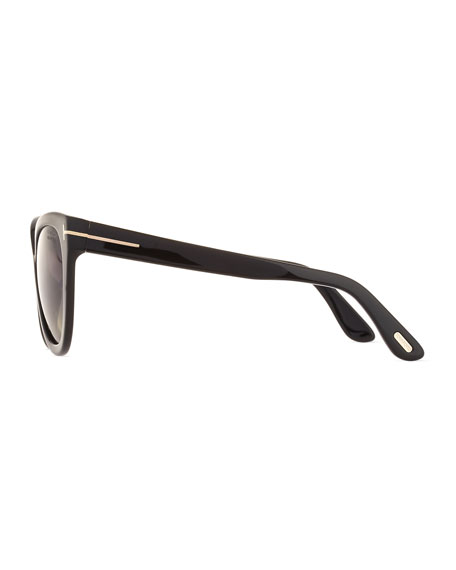 Arabella Polarized Cat-Eye Sunglasses, Black