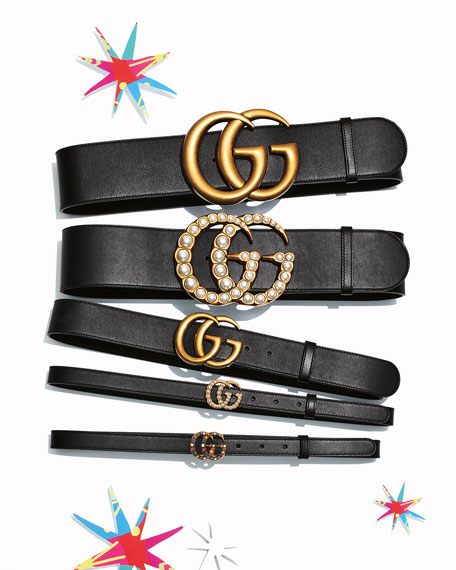 Gucci Adjustable GG Belt