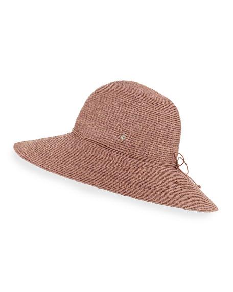 Helen Kaminski Delphina Round Raffia Sun Hat, Pink