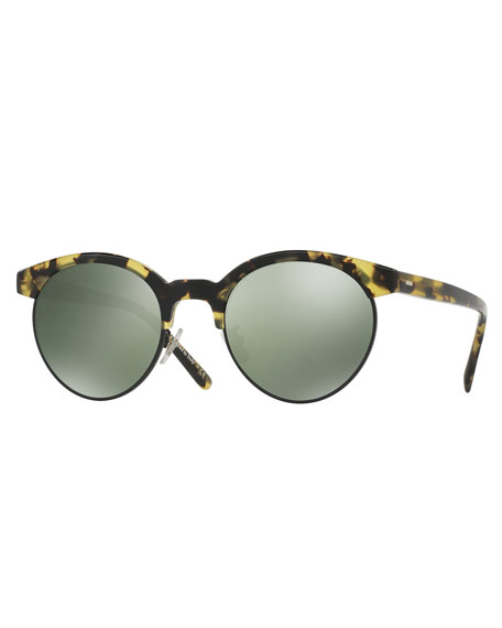 Ezelle Polarized Semi-Rimless Sunglasses, Brown