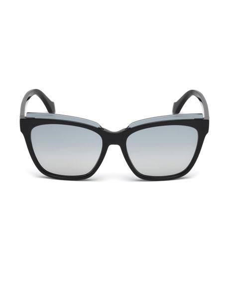 Injected Acetate Square Sunglasses