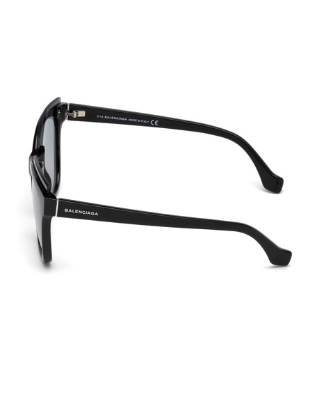 Injected Acetate Square Sunglasses