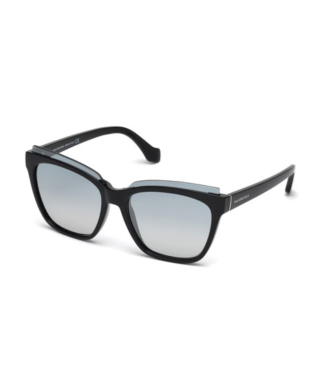 Balenciaga Injected Acetate Square Sunglasses