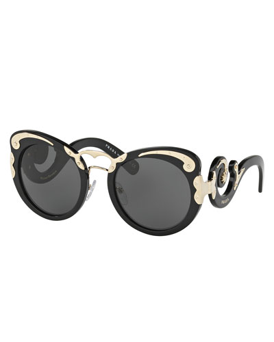 Prada Yellow Sunglasses  prada sunglasses square cat eye sunglasses at neiman marcus