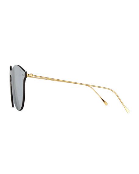 Leonard II Mask Sunglasses, Gray