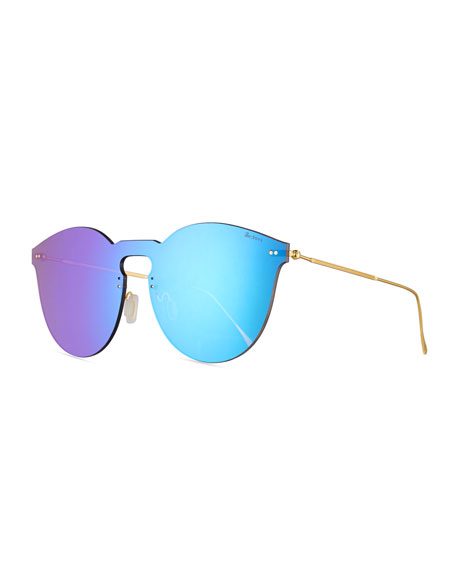 Illesteva Leonard II Mask Sunglasses, Green