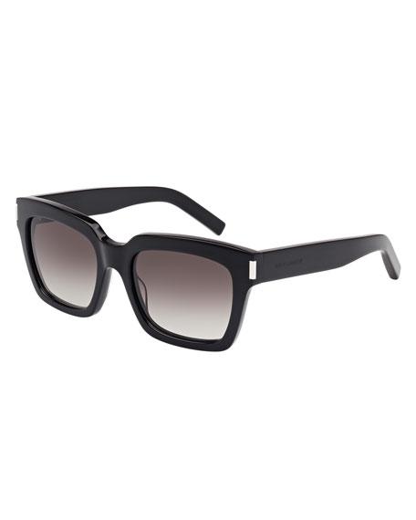 Gradient Square Sunglasses, Black