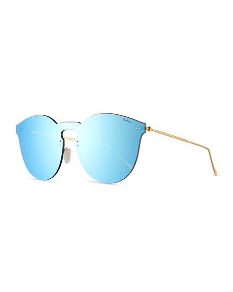 Illesteva Leonard II Mask Sunglasses, Blue
