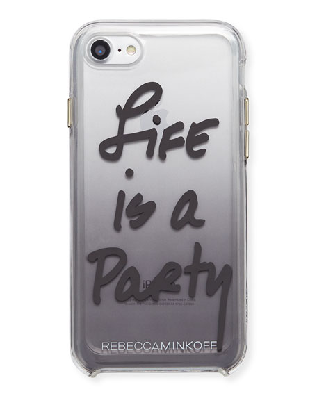 Life Is A Party Ombre Phone Case, Black