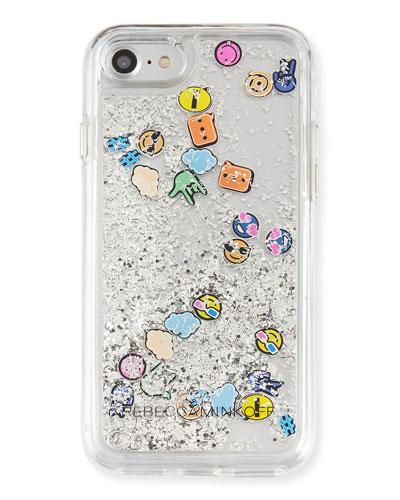 Waterfall Emoji Phone Case, Multi