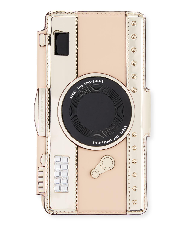 best sneakers 9e0a7 4afe5 camera folio crossbody iPhone 7 case, cashew/gold