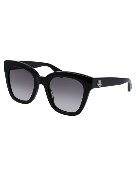 Gucci Gradient Cat-Eye Sunglasses, Black