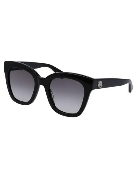 Gradient Cat-Eye Sunglasses, Black