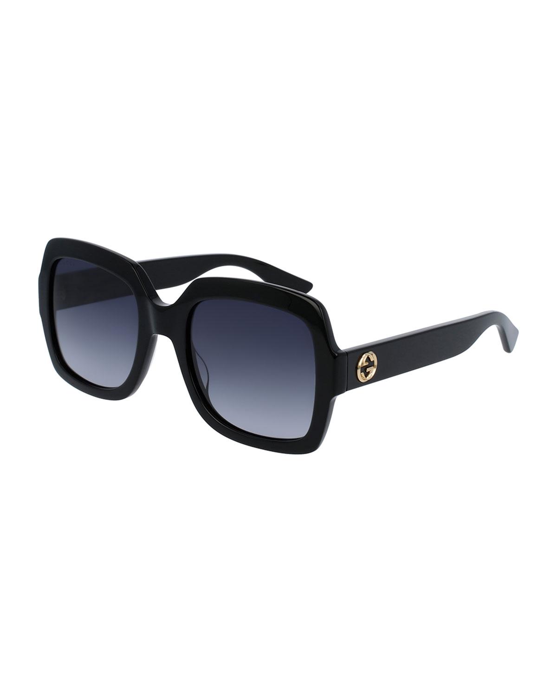 3ca98fa89dd Gucci Classic Oversized Rectangular Sunglasses