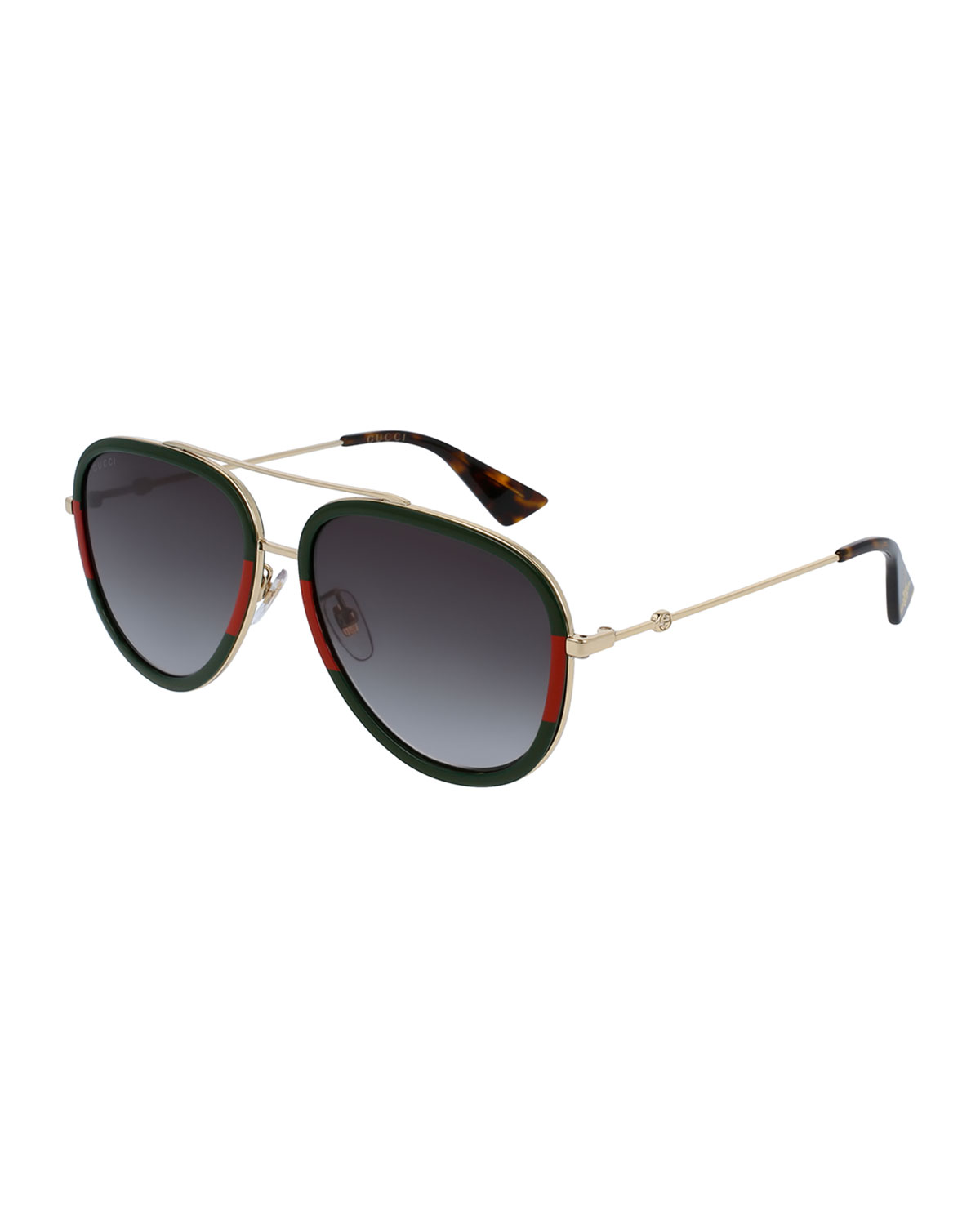 da8c986978e Gucci Gradient Web Aviator Sunglasses
