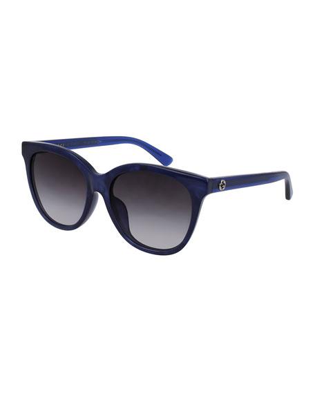Gucci Gradient Square Acetate Sunglasses, Blue
